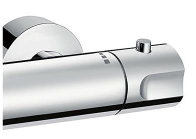 Hansgrohe Fox mitigeur thermostatique pour douche, vue de la molette réglage de température (droite)