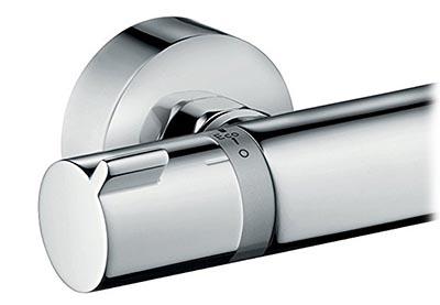 Hansgrohe Ecostat comfort mitigeur thermostatique pour douche, vue de la molette réglage de débit (côté gauche)