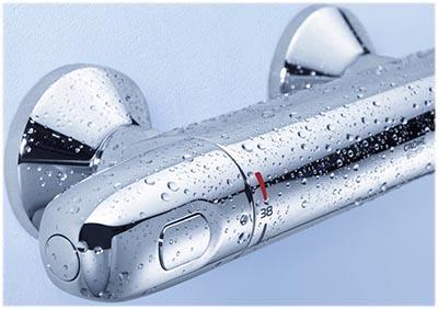 Grohtherm 1000 pour douche, vue de la molette réglage de la température