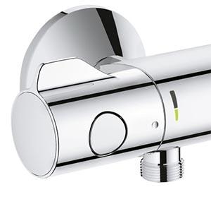 Grohtherm 800 pour douche, manette de réglage de débit à gauche