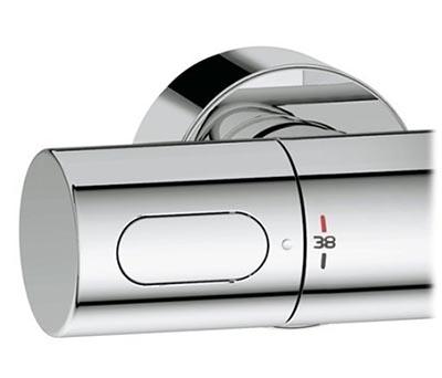 Mitigeur thermostatique Grohtherm 3000 pour baignoire et douche - manette de réglage de la température à gauche