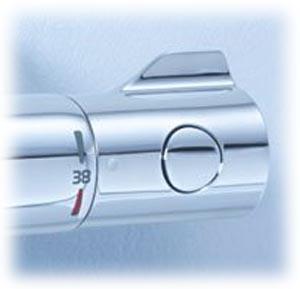 Grohtherm 800 pour baingoire et pour douche, manette de réglage de température à droite