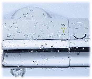 Mitigeur thermostatoique Grohtherm 2000 bain et douche détail reglage du choix de la sortie à droite
