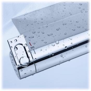 Mitigeur thermostatoique Grohtherm 2000 bain et douche détail reglage de la température à gauche