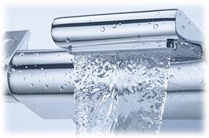 Mitigeur thermostatoique Grohtherm 2000 bain & douche. visualisation de la sortie pour alimenter la baignoire