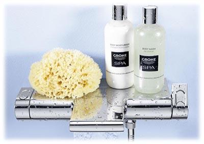 Le Grohtherm 2000 bain & douche permet également de poser ses produits savons