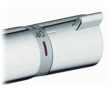 Hansgrohe Ecostat Comfort pour baignoire et douche, manette de gestion de la température à droite