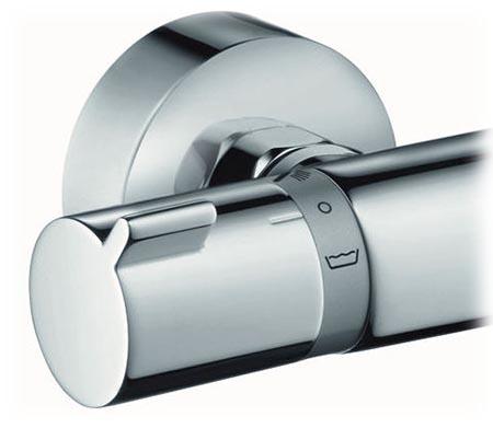 Hansgrohe Ecostat Comfort pour baignoire et douche, manette de sélectrion baignoire ou douche à gauche
